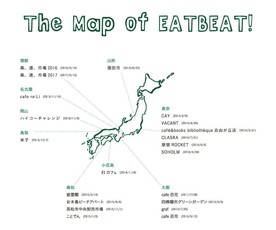 The Map of EATBEAT!